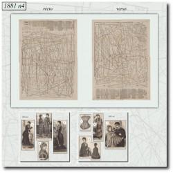 Patrons de La Mode Illustrée 1881 N°04