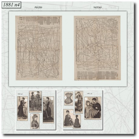 Sewing patterns La Mode Illustrée 1881 N°04