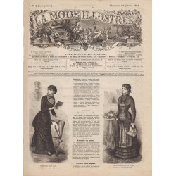 журнал мода La Mode Illustrée 1881 N°04