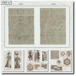 vykrojku La Mode Illustrée 1905 N°7