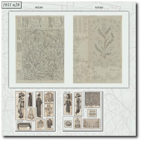 Sewing patterns La Mode Illustrée 1911 N°28