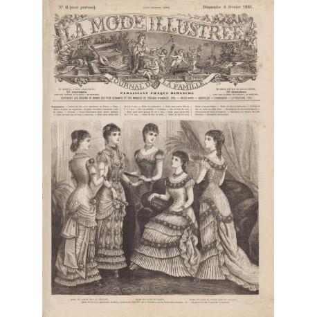 Revue complète de La Mode Illustrée 1881 N°06