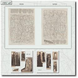 Patrons de La Mode Illustrée 1881 N°08