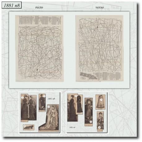Sewing patterns La Mode Illustrée 1881 N°08