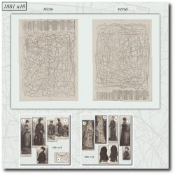 vykrojku La Mode Illustrée 1881 N°10