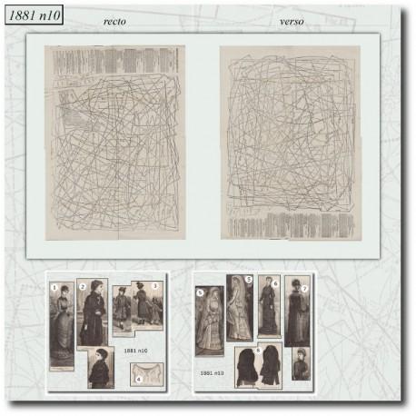 Patrons de La Mode Illustrée 1881 N°10