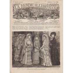журнал мода La Mode Illustrée 1881 N°10