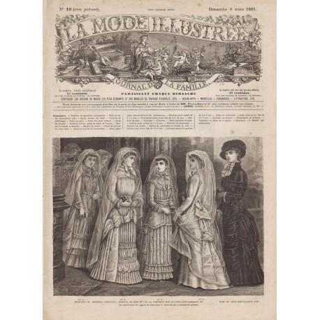 Revue complète de La Mode Illustrée 1881 N°10