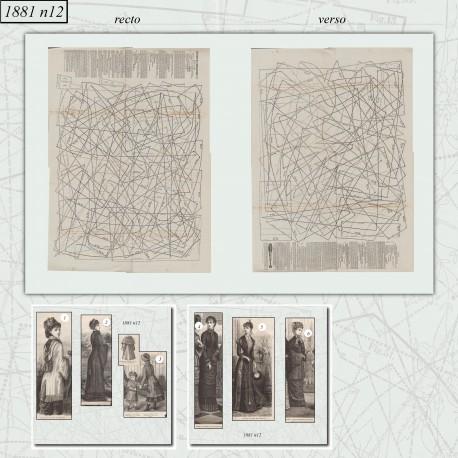 Patrons de La Mode Illustrée 1881 N°12