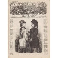 журнал мода La Mode Illustrée 1881 N°12