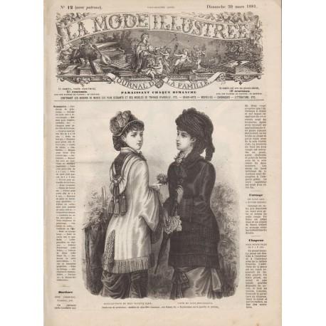 Revue complète de La Mode Illustrée 1881 N°12