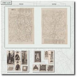 Patrons de La Mode Illustrée 1881 N°16