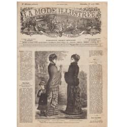 Complete magazine La Mode Illustrée 1881 N°16