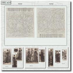 Patrons de La Mode Illustrée 1881 N°14