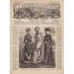 журнал мода La Mode Illustrée 1881 N°14