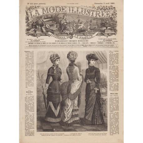 Complete magazine La Mode Illustrée 1881 N°14