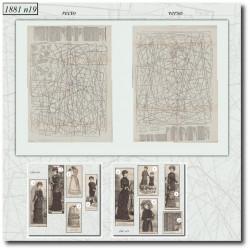 Patrons de La Mode Illustrée 1881 N°19