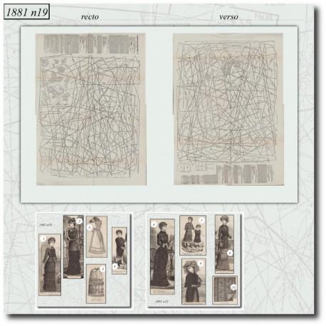 Sewing patterns La Mode Illustrée 1881 N°19