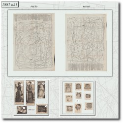 Patrons de La Mode Illustrée 1881 N°21