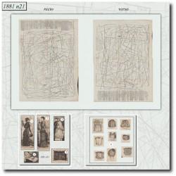vykrojku La Mode Illustrée 1881 N°21