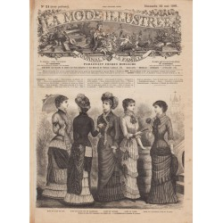 журнал мода La Mode Illustrée 1881 N°21