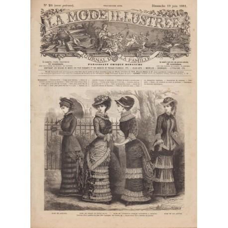 Revue complète de La Mode Illustrée 1881 N°25
