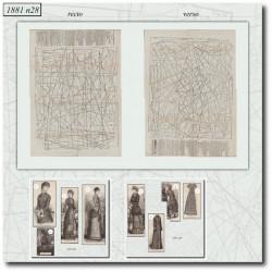 vykrojku La Mode Illustrée 1881 N°28