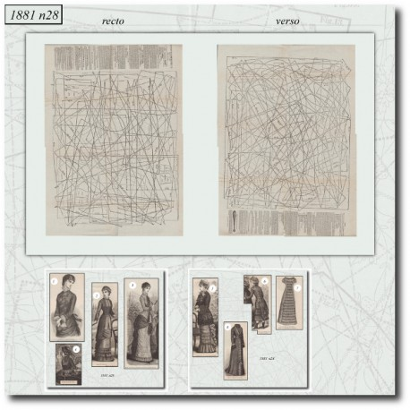 Patrons de La Mode Illustrée 1881 N°28