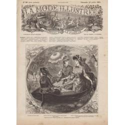 журнал мода La Mode Illustrée 1881 N°28