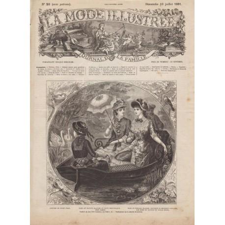 Complete magazine La Mode Illustrée 1881 N°28