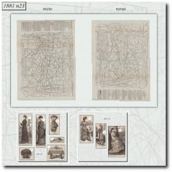 Patrons de La Mode Illustrée 1881 N°23