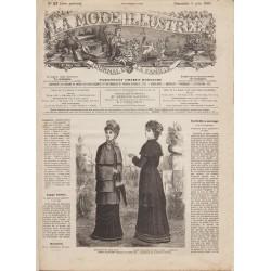 журнал мода La Mode Illustrée 1881 N°23