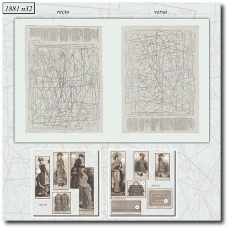 Patrons de La Mode Illustrée 1881 N°32
