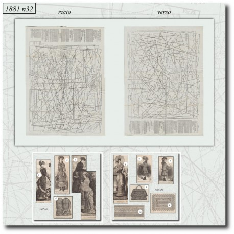Sewing patterns La Mode Illustrée 1881 N°32