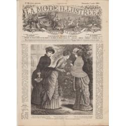 Complete magazine La Mode Illustrée 1881 N°32