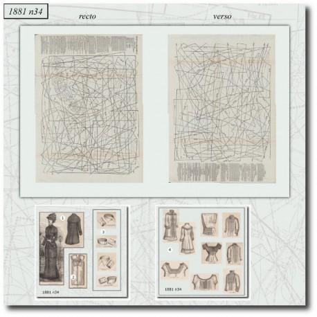 Sewing patterns La Mode Illustrée 1881 N°34