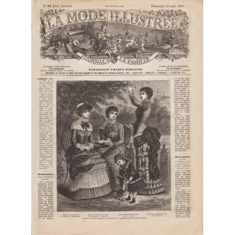 Complete magazine La Mode Illustrée 1881 N°34