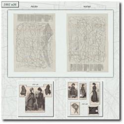 Patrons de La Mode Illustrée 1881 N°36