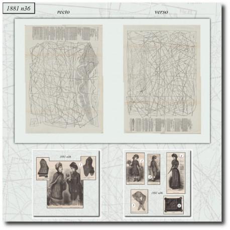 Sewing patterns La Mode Illustrée 1881 N°36