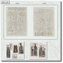 Patrons de La Mode Illustrée 1881 N°38