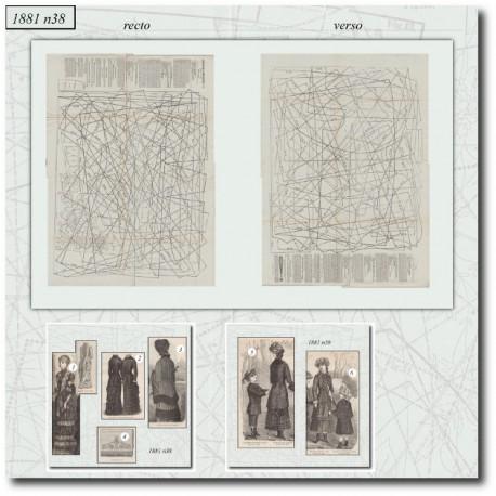 Sewing patterns La Mode Illustrée 1881 N°38
