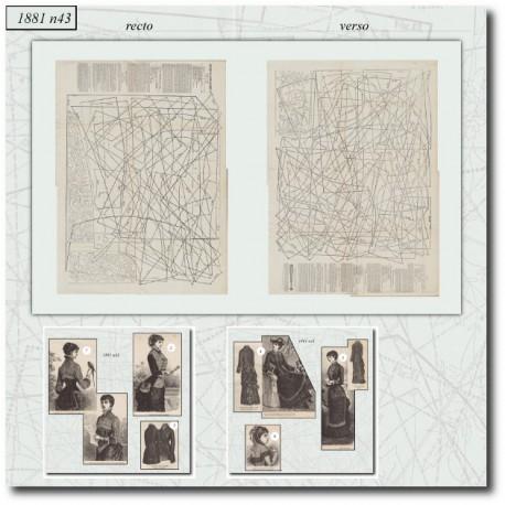 Sewing patterns La Mode Illustrée 1881 N°43