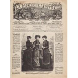 Complete magazine La Mode Illustrée 1881 N°43