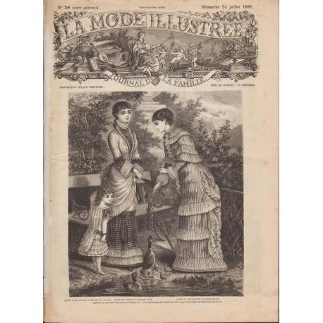 Complete magazine La Mode Illustrée 1881 N°30