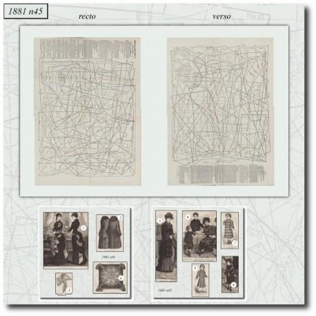 Sewing patterns La Mode Illustrée 1881 N°45
