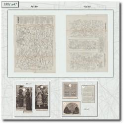 Sewing patterns La Mode Illustrée 1881 N°47
