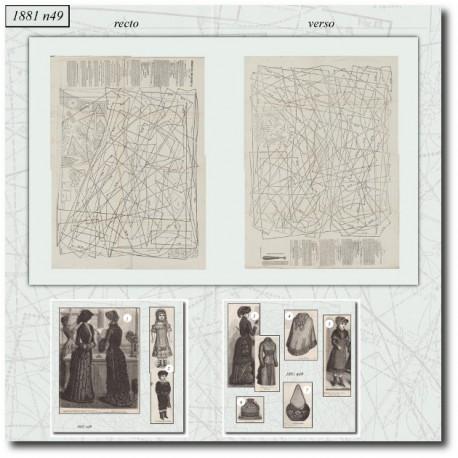 Sewing patterns La Mode Illustrée 1881 N°49