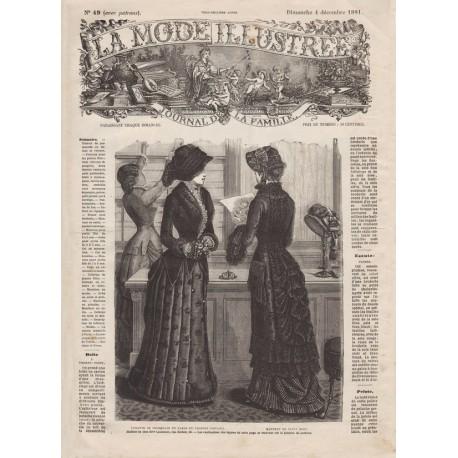Complete magazine La Mode Illustrée 1881 N°49