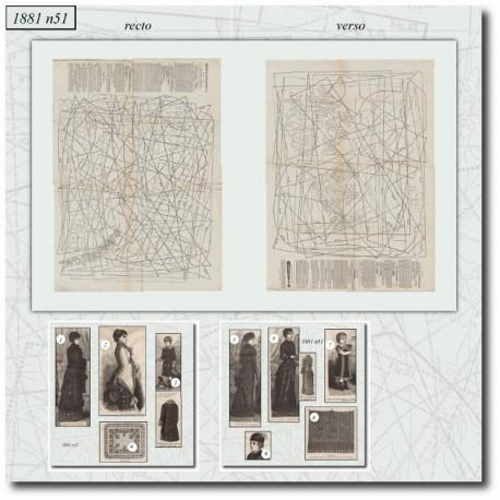 Sewing patterns La Mode Illustrée 1881 N°51