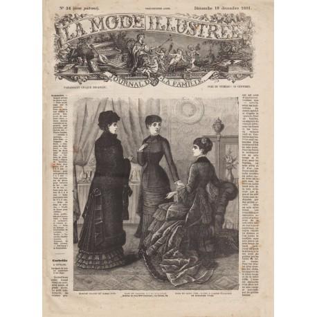 Complete magazine La Mode Illustrée 1881 N°51